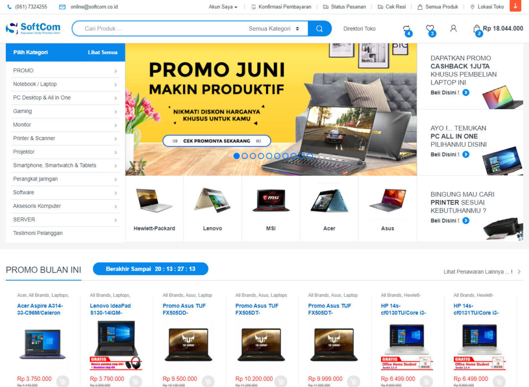 CV Softcom Medan - Toko Komputer Medan Softcom
